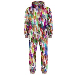 Colorful spirals on a white background             Hooded Jumpsuit (Men)