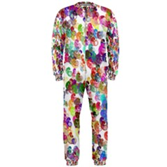 Colorful spirals on a white background             OnePiece Jumpsuit (Men)