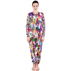 Colorful spirals on a white background             OnePiece Jumpsuit (Ladies)