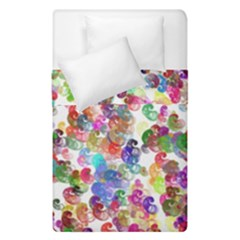Colorful spirals on a white background              Duvet Cover (Single Size)