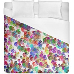 Colorful spirals on a white background              Duvet Cover (King Size)