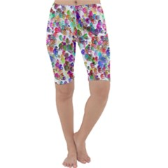Colorful spirals on a white background             Cropped Leggings