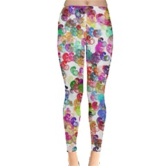Colorful spirals on a white background             Leggings