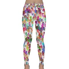 Colorful spirals on a white background             Yoga Leggings