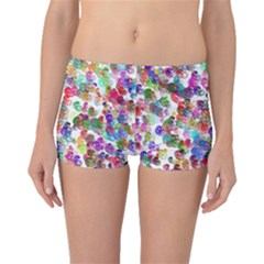 Colorful spirals on a white background             Boyleg Bikini Bottoms
