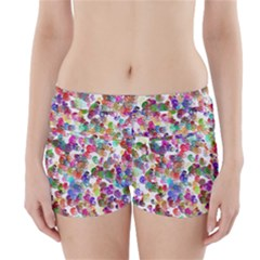 Colorful spirals on a white background                Boyleg Bikini Wrap Bottoms
