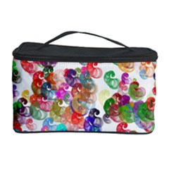 Colorful spirals on a white background             Cosmetic Storage Case