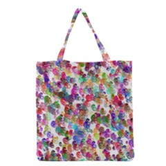 Colorful spirals on a white background             Grocery Tote Bag