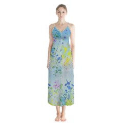 Watercolors Splashes              Chiffon Maxi Dress by LalyLauraFLM