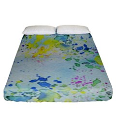 Watercolors Splashes             Fitted Sheet (king Size) by LalyLauraFLM