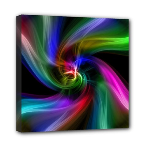 Abstract Art Color Design Lines Mini Canvas 8  X 8