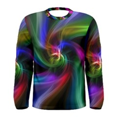 Abstract Art Color Design Lines Men s Long Sleeve Tee by Nexatart