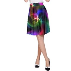 Abstract Art Color Design Lines A Line Skirt by Nexatart