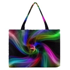 Abstract Art Color Design Lines Medium Zipper Tote Bag by Nexatart