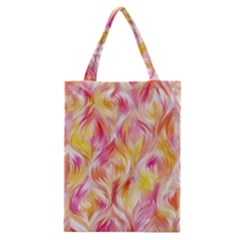Pretty Painted Pattern Pastel Classic Tote Bag by Nexatart
