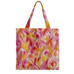 Pretty Painted Pattern Pastel Zipper Grocery Tote Bag by Nexatart