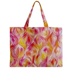 Pretty Painted Pattern Pastel Medium Tote Bag by Nexatart