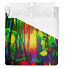 Abstract Vibrant Colour Botany Duvet Cover (queen Size) by Nexatart