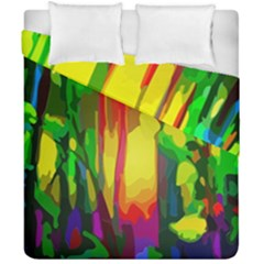 Abstract Vibrant Colour Botany Duvet Cover Double Side (california King Size) by Nexatart