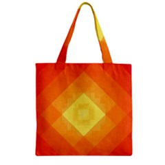 Pattern Retired Background Orange Zipper Grocery Tote Bag by Nexatart