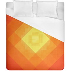 Pattern Retired Background Orange Duvet Cover (california King Size) by Nexatart