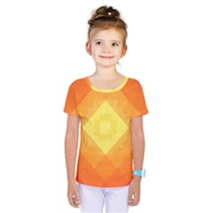 Pattern Retired Background Orange Kids  One Piece Tee