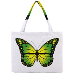 Green Butterfly Mini Tote Bag by linceazul