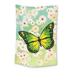 Green Butterfly Small Tapestry by linceazul
