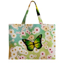 Green Butterfly Medium Tote Bag by linceazul