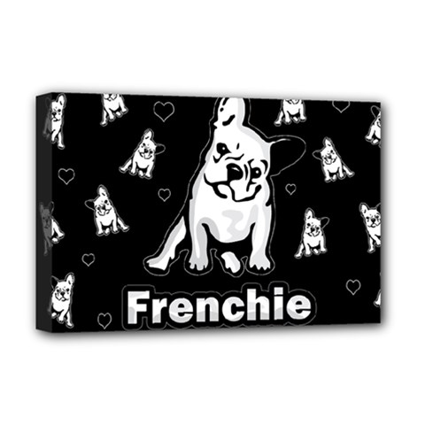 Frenchie Deluxe Canvas 18  X 12