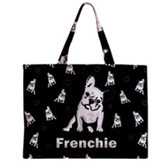 Frenchie Zipper Mini Tote Bag by Valentinaart
