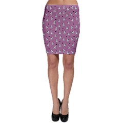 French Bulldog Bodycon Skirt