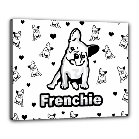 French Bulldog Canvas 20  X 16  by Valentinaart