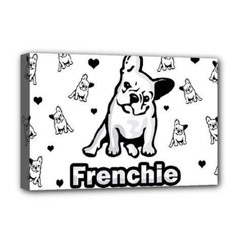 French Bulldog Deluxe Canvas 18  X 12