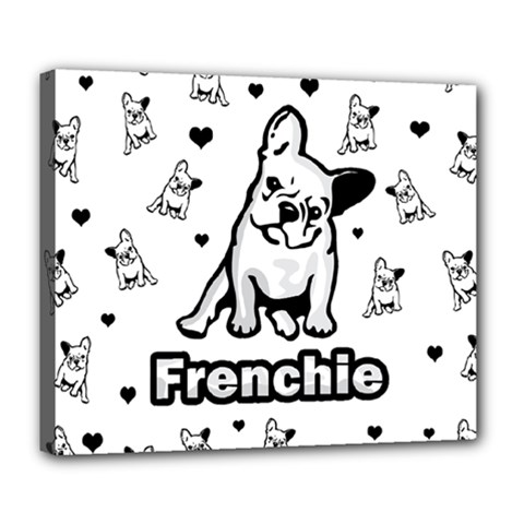 French Bulldog Deluxe Canvas 24  X 20   by Valentinaart