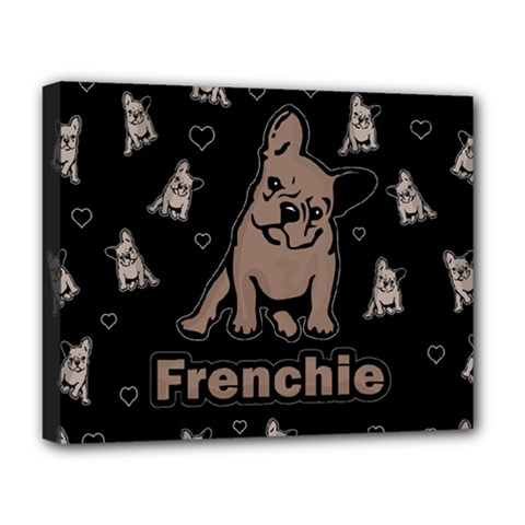 French Bulldog Deluxe Canvas 20  X 16   by Valentinaart