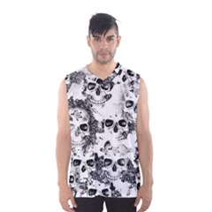 Cloudy Skulls B&w Men s Basketball Tank Top by MoreColorsinLife