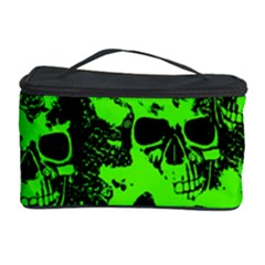 Cloudy Skulls Black Green Cosmetic Storage Case by MoreColorsinLife