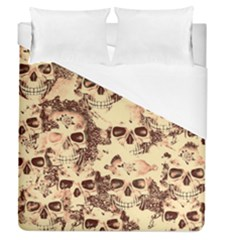 Cloudy Skulls Beige Duvet Cover (queen Size) by MoreColorsinLife
