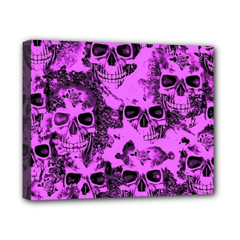 Cloudy Skulls Pink Canvas 10  X 8  by MoreColorsinLife