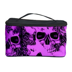 Cloudy Skulls Pink Cosmetic Storage Case by MoreColorsinLife