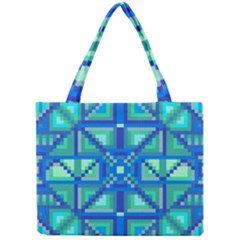Grid Geometric Pattern Colorful Mini Tote Bag by Nexatart