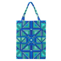 Grid Geometric Pattern Colorful Classic Tote Bag by Nexatart