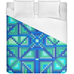 Grid Geometric Pattern Colorful Duvet Cover (california King Size) by Nexatart