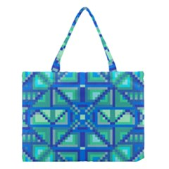 Grid Geometric Pattern Colorful Medium Tote Bag by Nexatart