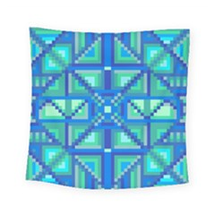 Grid Geometric Pattern Colorful Square Tapestry (small) by Nexatart
