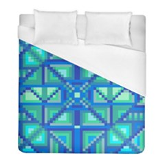 Grid Geometric Pattern Colorful Duvet Cover (full/ Double Size) by Nexatart