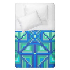 Grid Geometric Pattern Colorful Duvet Cover (single Size) by Nexatart
