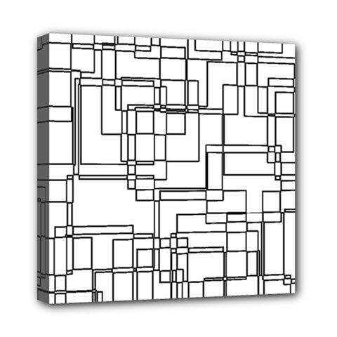 Structure Pattern Network Mini Canvas 8  X 8