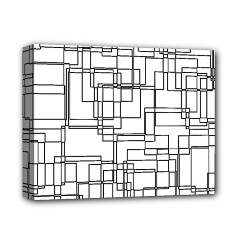 Structure Pattern Network Deluxe Canvas 14  X 11  by Nexatart
